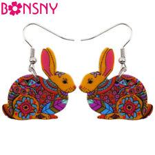 BONSNY Rabbit Earrings Bunny jewellery Charm Dangle Drop Animal Dangle Women