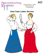 Temprano Tudor Mujer - skivvies -reconstructing Historia Papel patterns- rh602