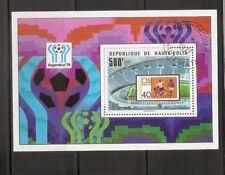 Burkina Faso SC # 461 World Cup 1978, Argentina. . Souvenir Sheet. MNH