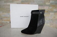 Isabel Marant Gr 36 Botines Botas Patea los Zapatos Shoes Black Nuevo