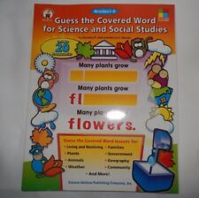 Carson-Dellrosa Publishing Guess the Covered Word for Science and Social Studies