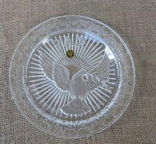 Limited Edition PAX PEACE French Crystal Plate Poillerate Cristal d'Albret CASE