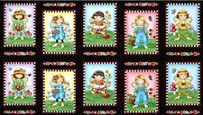 """Mary's Fairies Fairy Girl Flowers Cotton Fabric Mary Engelbreit 24""""X44"""" Panel"""