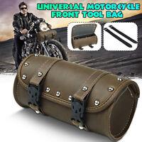 Universal Motorcycle Front Side Fork Tool Bag Saddlebag Roll Barrel Luggage