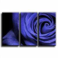 Rose Floral Treble Canvas Wall Art Picture Print 9