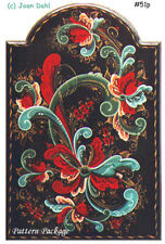 Telemark Clock Plaque Rosemaling Packet by Joan Dahl, Free Shipping, Stock #51p.