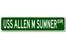 USS ALLEN M SUMNER DD 692 Ship Navy Sailor Metal Street Sign - Aluminum