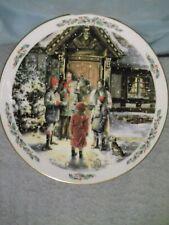 "Royal Doulton 1989 8.5"" Christmas Plate Carolling - 1st of series"