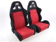 Coppia di sedili sportivi nero/rosso (1 destro + 1 sinistro)