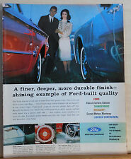 1962 magazine ad for Ford - Finer, deeper more durable finish Ford built quality