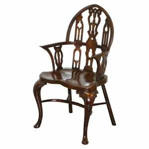 RARE VICTORIAN GOTHIC THAMES VALLEY WINDSOR CHAIR GEORGE II STYLE GEORGIAN IRISH