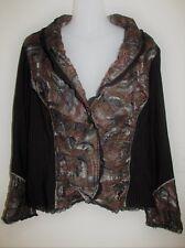 AU Designer MOTTO Textured Long Sleeve Jacket Size 16