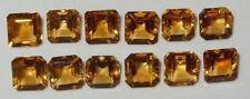 7mm Beautiful Brazil Bright Strong Gold Citrine Square/Octagon Cut