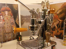 RARE Zacconi Riviera Wood chrome luxury italy lever espresso machine 220V / 110V