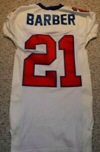 NEW YORK GIANTS FOOTBALL JERSEY 2003 TIKI BARBER TEAM ISSUE JERSEY SIZE 44