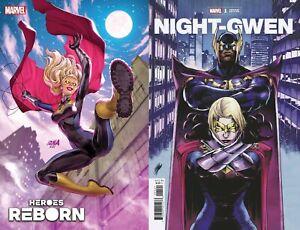 HEROES REBORN NIGHT-GWEN #1 VARIANT SET A B GHOST SPIDER MARVEL COMIC 6/9