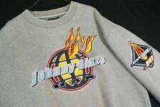 Vintage 90s Johnny Blaze Puff Print Crewneck Sweatshirt Flames Mens L Method Man