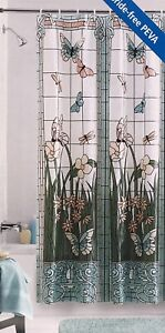 """Stained Glass Window Pattern Shower Curtain 70"""" X 72"""" Mainstays 100% PEVA"""