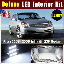 10X Deluxe White Interior LED Light Package Kit 2003-2006 For Infiniti G35 Sedan