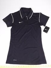 NIKE Dri Fit Black Polo Style Shirt Top XS X-Small Retails $35 Athletic Tennis