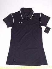 NIKE Dri Fit Black Polo Style Shirt Top XS X-Small Retails $35 Athletic Tennis