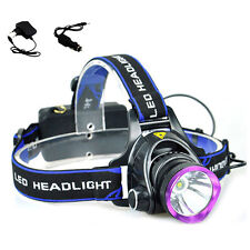 Q5 Led Headlamp Head Torch 1600lm Headlight Camping with AC charger car charger