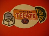 Beer Coaster: TECATE Pale Lager    FEMSA-Cuauhtémoc-Moctezuma    Mexico Brewery