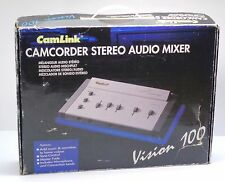 Camlink Camcorder Stereo Audio Mixer Vision 100 With Power Adapter Bundle