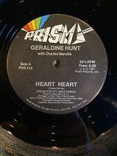 Geraldine Hunt with Charles Marotta - Heart Heart - 12 Inch Vinyl Record