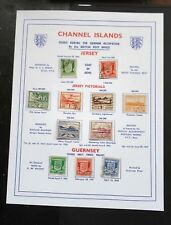 CHANNEL ISLANDS 1941-44 GERMAN OCCUPATION STAMPS COMPLETE