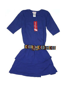 New American Girl of the Year GOTY Saige Meet Blue Dress Aztec Belt Size 16