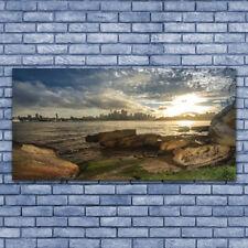 Acrylglasbilder Wandbilder aus Plexiglas® 140x70 Meer Steine Stadt Landschaft