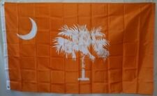 CLEMSON TIGERS South Carolina Palmetto State ORANGE FLAG 3x5 ft Print Polyester