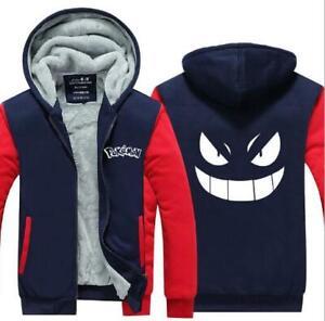 Pokemon Go Valor Team Men's Thicken Zipper Jacket Coat Sweater Hoodie Sweatshirt