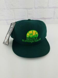NEW Seattle Supersonics NBA Vintage 90's New Era Fitted Cap Hat NWT Kemp 6 7/8