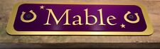 HORSE PONY STABLE PLAQUE NAME PLATES PERSONALISED FOR HORSES TACKROOM EQUESTRIAN