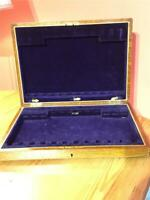 Vintage Empty Oak Wooden Cutlery Box 35 cm x 25 cm x 5.5cm