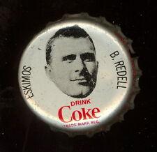 1965 COKE CAPS COCA-COLA CAP CORK CFL FOOTBALL BILL REDELL EDMONTON ESKIMOS EXNM