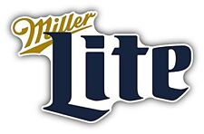 "Miller Lite Beer Drink Car Bumper Sticker Decal 5"" x 3"""