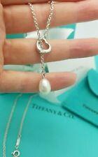 Tiffany & Co. Elsa Peretti White Pearl Open Heart Silver Necklace UK Hallmarked!