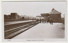 Wiltshire postcard - Tidworth Station - RP - P/U 1925