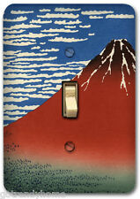 Japan Hokusai fuji Mountain Metal Single Light Switch Plate Cover Home Decor 306