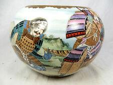 Alte , aufwändig von Hand bemalte Kutani Porzellan Schale Samurai Motiv Japan