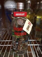 RARE ABSOLUT VODKA 750ML SEC CAP MEXICO BOTTLE & TAG -NO GLOW GUSTAFSON CNC LA