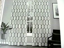 "Kochi Pleated Light Window Curtain ( 1 ) Panel Gray 27"" x 96"" Exclusive Home"