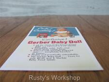 1957 Sun Rubber Rare Gerber Baby doll Ad Coupon (Reproduction)