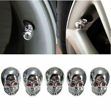 5PcsUniversal Car Auto Skull Wheel Tyre Tire Stem Air Valve Caps Dust Cover New