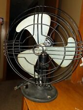 Vintage GE General Electric  Fan Black 3 Aluminum Blades Works & Oscillates