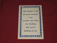 1912 I'm thinking that you're thinking of me Postcard  Posted VG