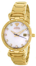 Aqua Master Womens Pearl Dial Gold Tone Stainless Steel Bracelet Watch W#359_7
